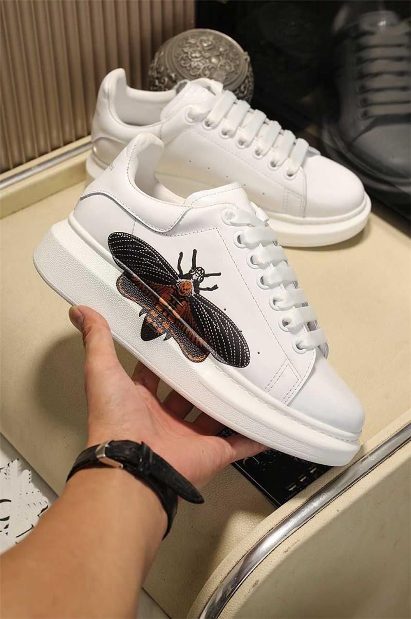 2021 sapatos casuais com Boxtop Quality Mens Womens Leather Lace Up Conforto Bonito Sapatos Homens Treinadores Diários Estilo de Vida Skates