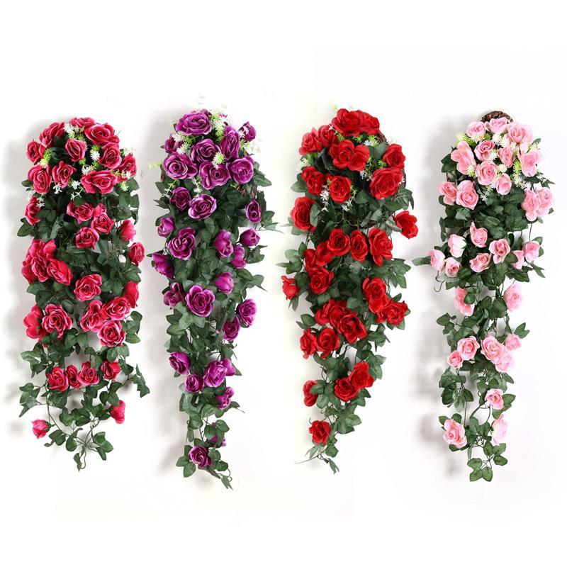 الاصطناعي زهرة الروطان وهمية الزهور كرمة الديكور جدار شنقا الورود ديكور المنزل اكسسوارات الزفاف الزخرفية إكليل rrd7310