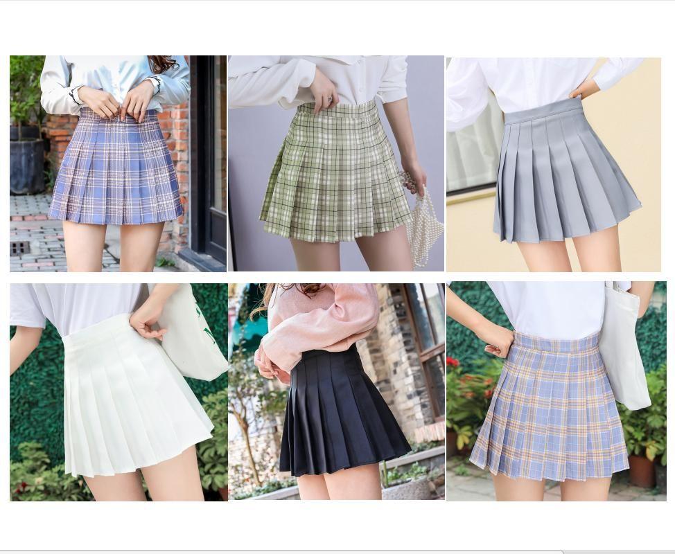Röcke Schwarz Weiß Sommer Frauen Preppy School Girls Sexy Nette koreanische Hohe Taille Plaid Minirock mit Reißverschluss
