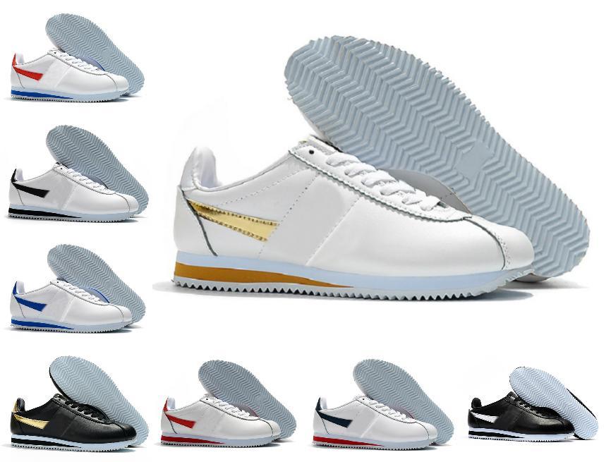 Mode Classic Cortez Nylon RM Varsity Royal Rouge Running Shoes Basic Premium Bleu Noir Bleu Léger Chaussures Cortez Coating Cuir BT QS Sneakers en plein air