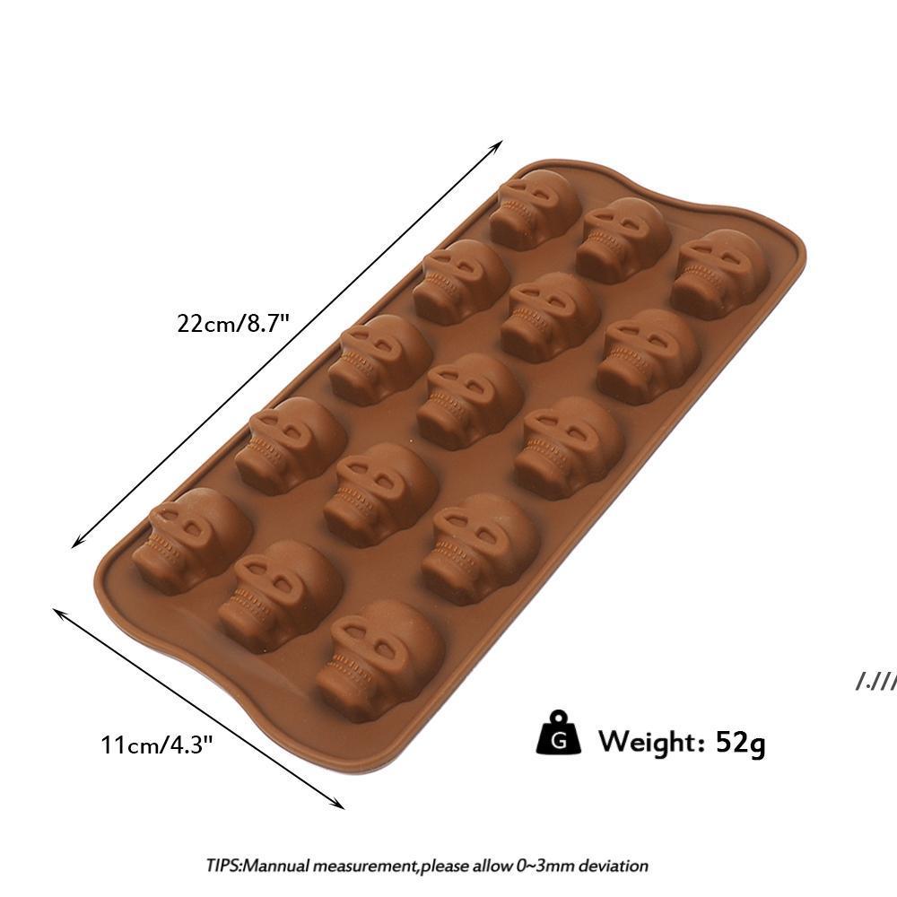 Moule de glace 3D Crâne, crâne 3D Silicone Silicone Glace Cube Plateau moule, facile à remplir le crâne lenteur de la crâne de glace DWF6533