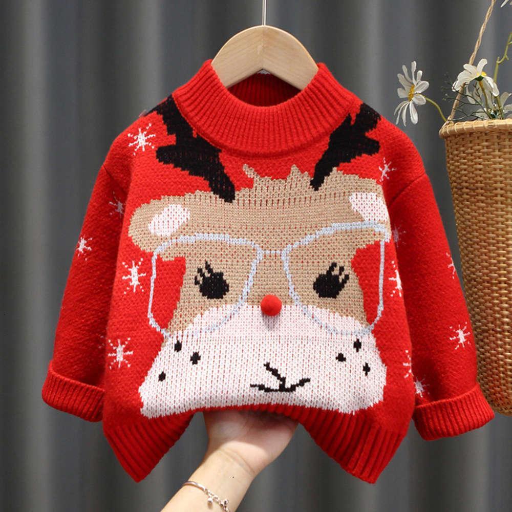 Кардиган физический стрельбаут осень и одежда мальчики корейский рождественский зимний детский свитер