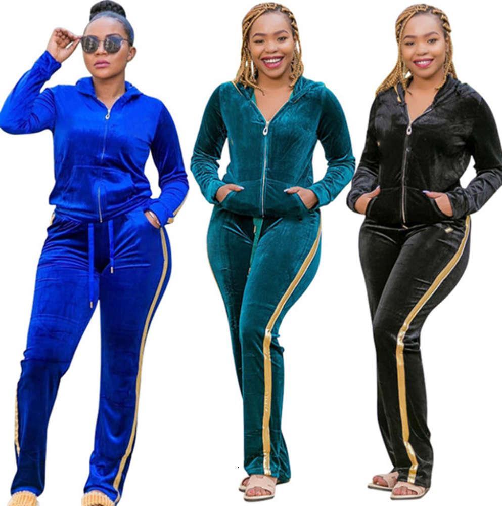 Fleece Fleece 2 pieza Set Jogging Traje Jacket Pantalones 3xl 4xl 5xl Otoño Invierno Ropa Casual Tamaño Bigger Sportswear Cardigan Capris 4238