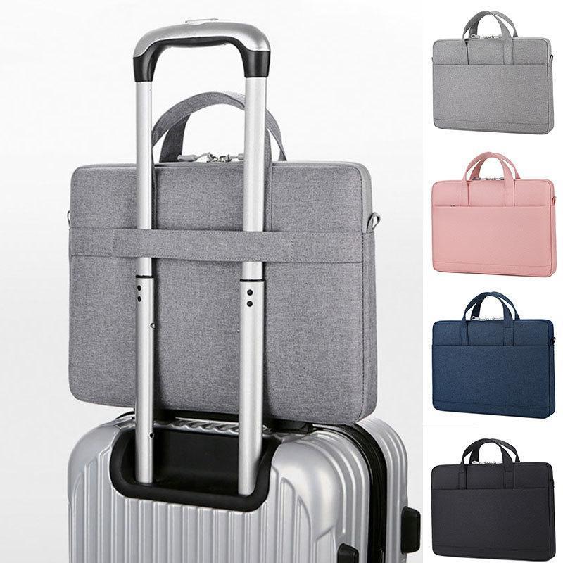 Multi-camada de armazenamento manga impermeável saco de laptop macbook estojo capa de caderno q0112