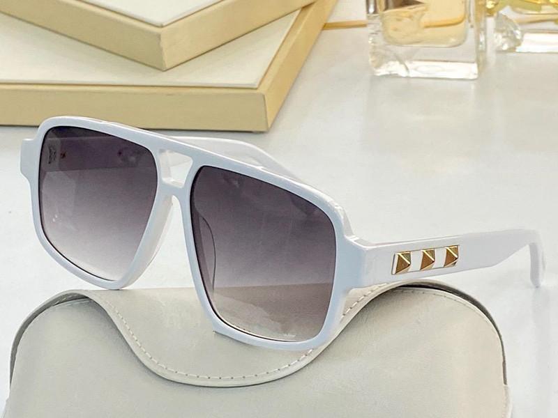 نظارات شمسية للنساء نمط الصيف المضادة للأشعة فوق البنفسجية 4211 الرجعية درع عدسة لوحة مستطيل الإطار الكامل الأزياء النظارات مربع عشوائي