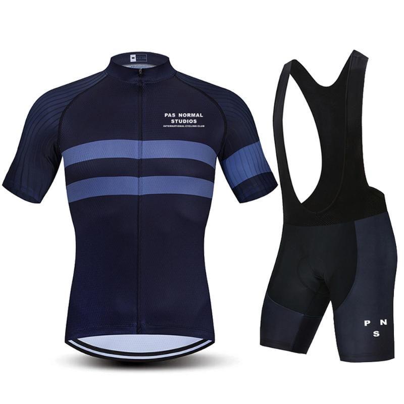 2021PNS 사이클링 의류 남성용 도로 자전거 저지 세트 여름 MTB 프로 팀 의류 짧은 소매 유니폼 트라이 애슬론 Ropa Ciclismo Racing Sets