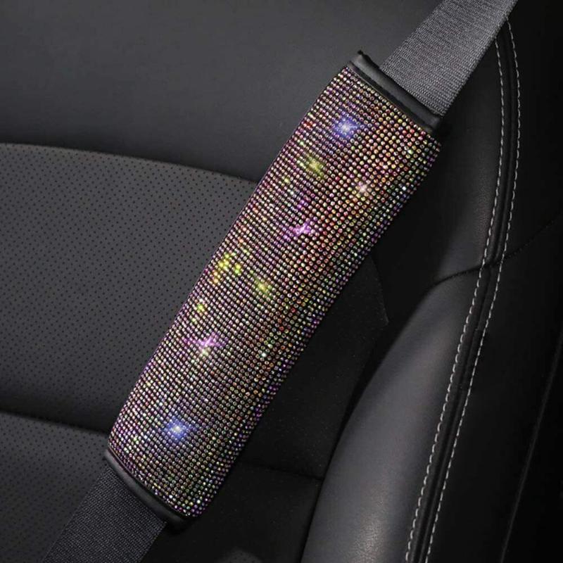 Accoppiamenti per cintura di seduta 25CMX7cm Bling Car Cover Crystal cuscino di sicurezza Cinture di sicurezza Accessori
