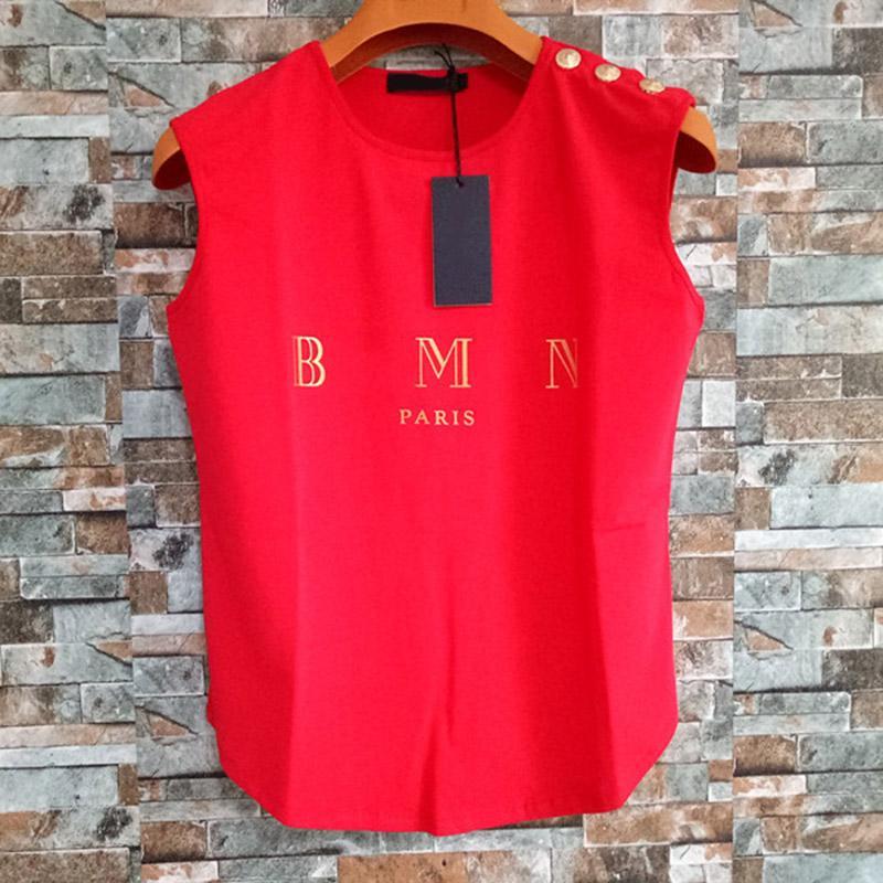 Mode-Damen Designer T-shirts Sommer Frauen Hohe Qualität Kleidung Top Kurzarm Sleeveless für weibliche Größe S-L