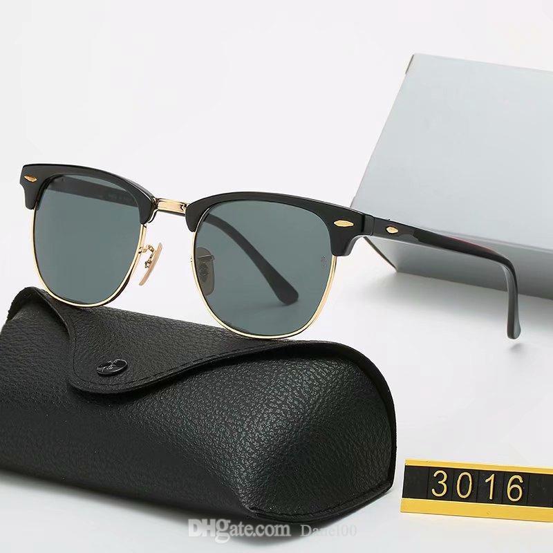 Klassische runde Sonnenbrille Luxus 2021 Marke Polarisierte Männer Frauen Für Männer Womens Pilotdesigner UV400 Eyewear Designer Sonnenbrille Metallrahmen Polaroidobjektiv mit Kasten