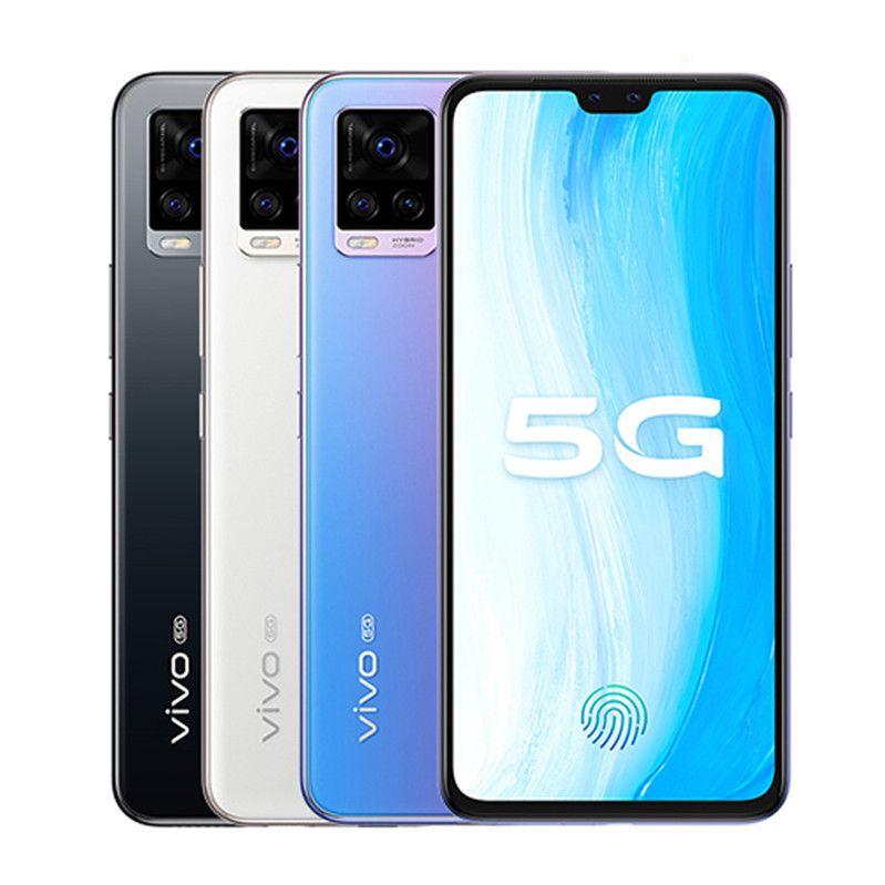 "Original vivo S7 5G Mobiltelefon 8 GB RAM 128GB 256GB ROM Snapdragon 765 Octa Core 64MP 6.44 ""Vollbild-Fingerabdruck-ID FACE Weak-Handy"
