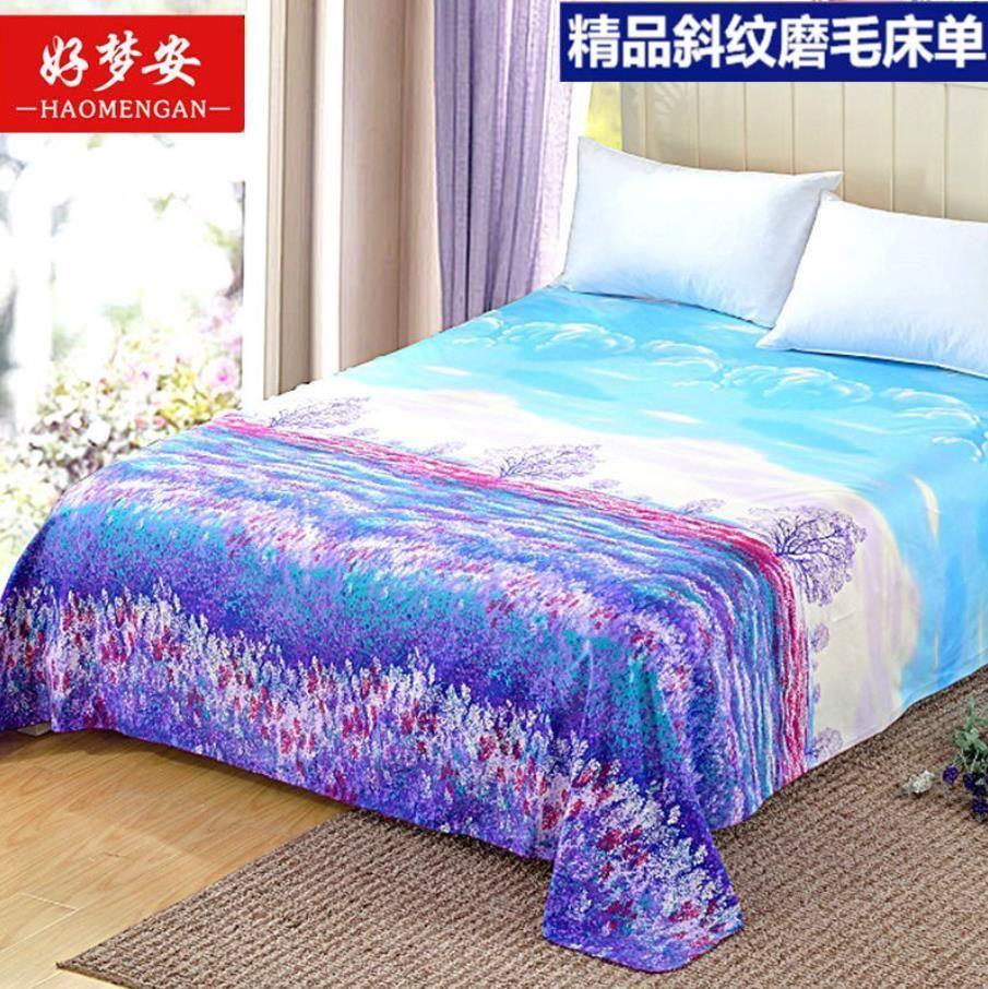 Four Seasons Bed Sheet Trendy Household Textile Bedding Mattress Dust-proof Bedspread Dorm Room ( No Pillowcase ) F0131 210420