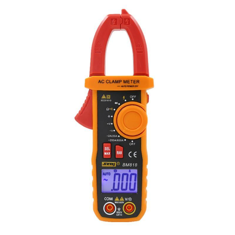 Multimeters /DC Ammeter Multimeter Large Capacitance Portable Multifunctional Easy Operate High Accuracy Digital Display Clamp Meter