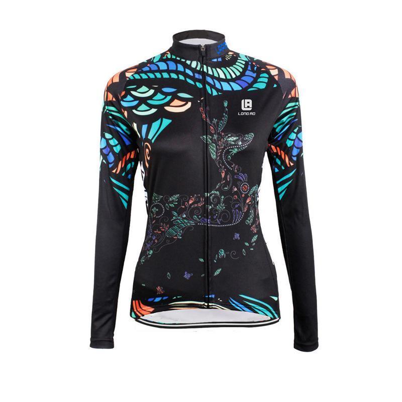 Jersey da donna in bicicletta da donna a maniche lunghe ad alta elasticità da corsa sport mtb bici femminile primavera autunno autunno camicia giacche
