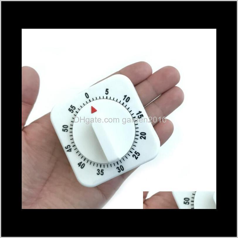 60 Minutes Kitchen Student Timer Square Time Manager Mechanical Timers Countdown Learning Reminder Measurement Analysis Instruments R5 Jnqfr