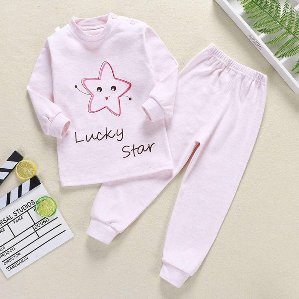 Pajamas физические съемки нижнее белье цвет хлопок новая детская ткань осень брюки мужские и женские дома носить детский костюм