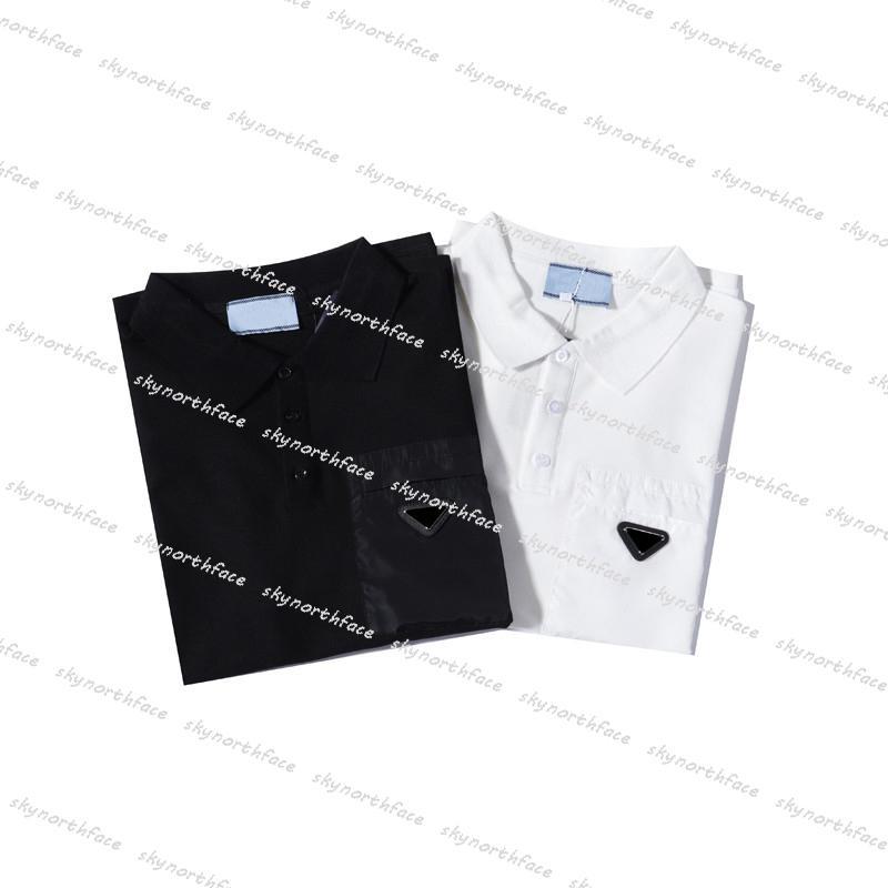 망 폴로 셔츠 디자이너 티셔츠 패션 여름 Tshirts 남자 Womens 폴로 티셔츠 짧은 소매 삼각형 탑 티셔츠 여성 T 셔츠 Tshirt