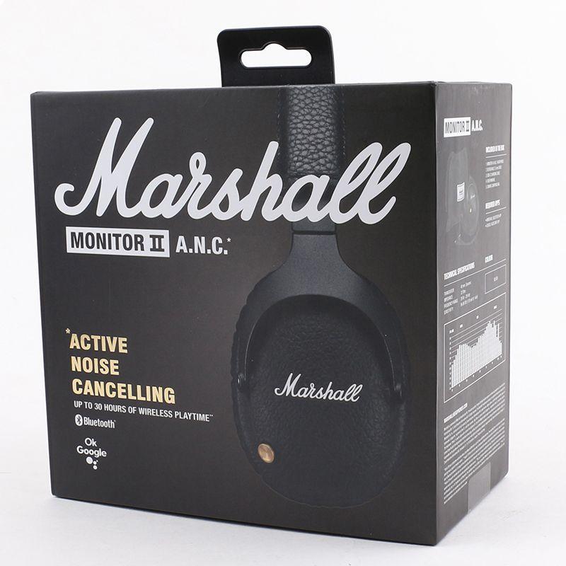 Top Marshall Monitor II ANC Bluetooth Auriculares DJ Auriculares Bajo Profundo Aislado Auricular Auricular Buena Calidad