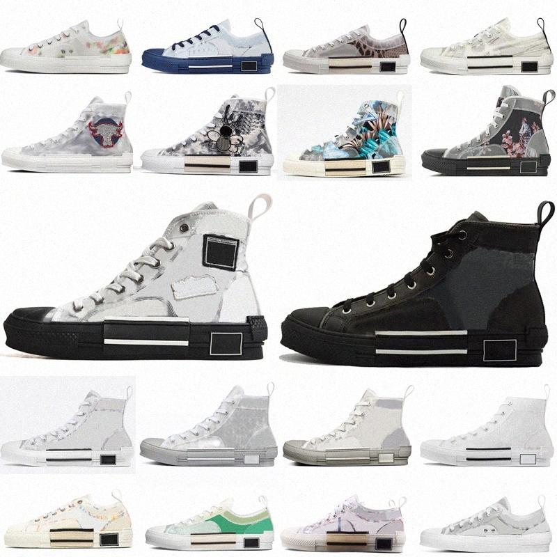 2021 b23 tênis obliques sapatos bordados couro de alta baixa plataforma de flores ao ar livre sapato casual tamanho vintage 36-4 f8o7 #