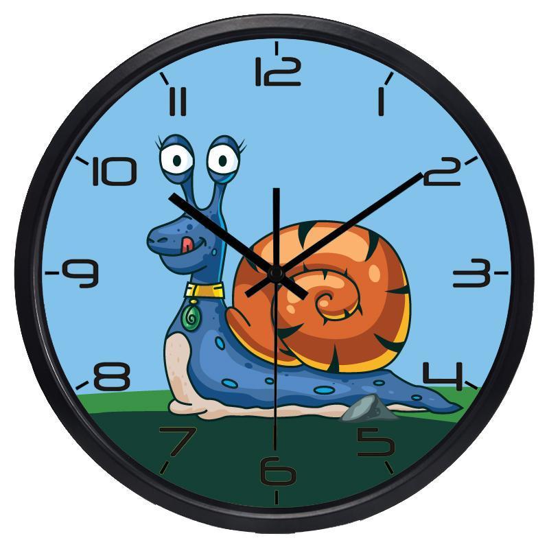 Horloges murales mignon escargot fashion maison décoration enfants lit chambre horizon créatif français enfants