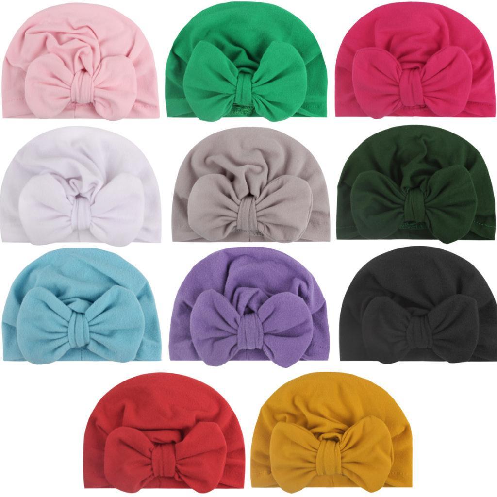 유니섹스 귀여운 아기 부드러운 부드러운 부드러운 부드러운 헷지 겨울 따뜻한 아이 모자 신생아 모자 혼합 된 색상