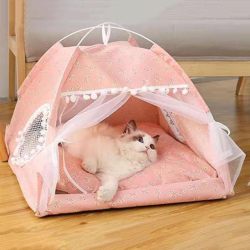Cama para mascotas para Cat House Productos acogedores Accesorios Nido Cómodo Cómoda CAMAS PEQUEÑAS PEQUEÑOS PEQUEÑOS CHIHUAHUA TENTBLE MUEBLES DE HAMMAS