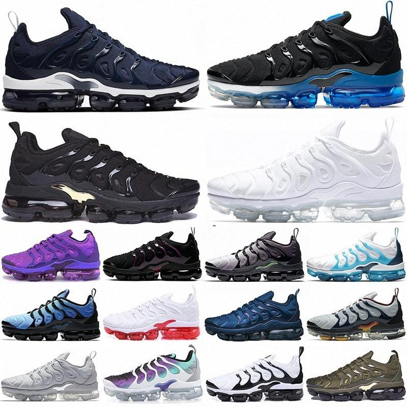 with box best air max airmax vapors vapormax TN tns plus Ultra zebra Shoes Classic Shoes tn Black Sport Shock sneakers mens requin Olive size 39-45