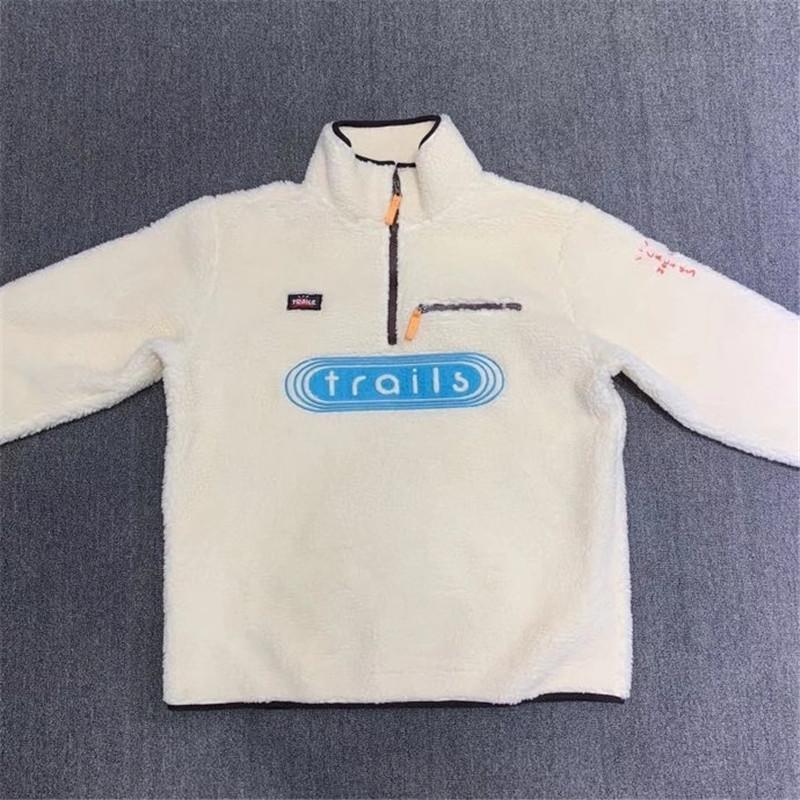 20fw New Agneau Laine TRAVIS TRAVIS SCOTT CACTUS CACTUS SPOADIE FULL ZIP HOODIE Hommes Femmes 1: 1 Broderie Fashion Sweatshirts occasionnels