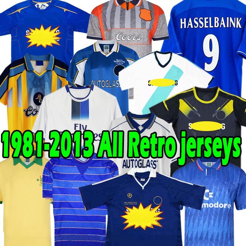 Retro Drogba 2011 Torres CFC Fussball Jersey 1983 1985 Lampard Football Hemd 2012 2012 2013 Finale 96 97 99 82 Vintage Crespo Classic 03 05 06 07 08 Cole Zola Vialli-Trikots