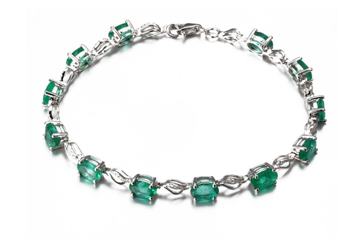 Bague Ringen creó una pulsera creativa europea y americana de la joyería de plata esmeralda