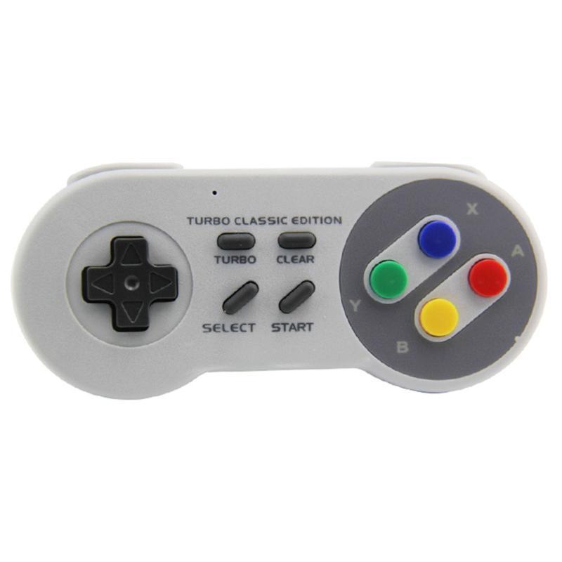 2.4GHz Wireless Gamepad Remote Controller Turbo Joystick per SNES Portable Mini Classic Edition Game Console Boy Regal Controllers Joystick