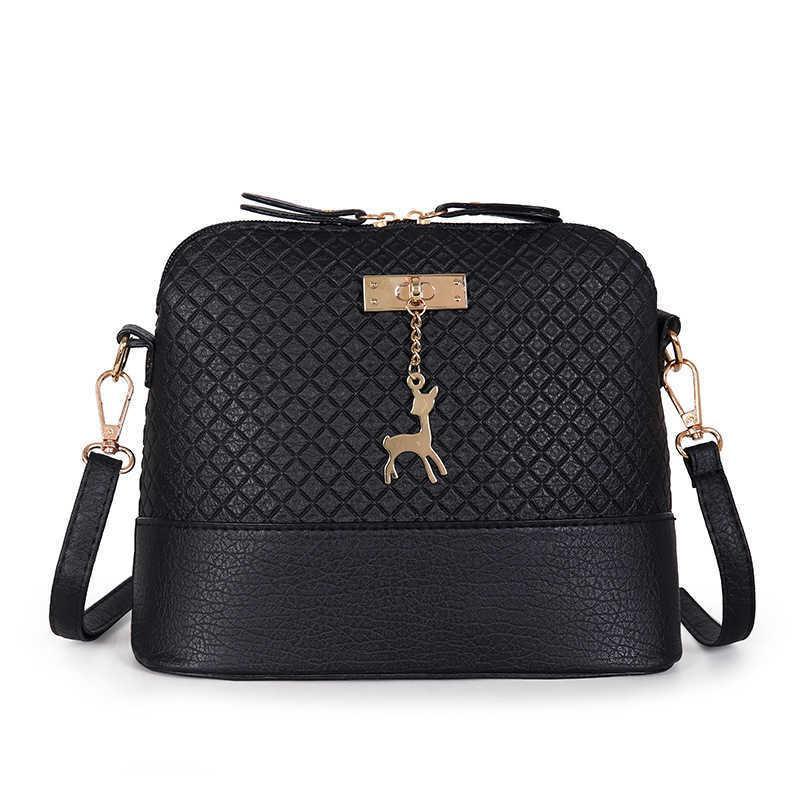 بو الجلود المرأة حقيبة الكتف الإناث محفظة الغزلان قلادة حقائب فتاة البسيطة حقيبة crossbody خمر صغير صغير رفرف bolsos 2020 Q0713