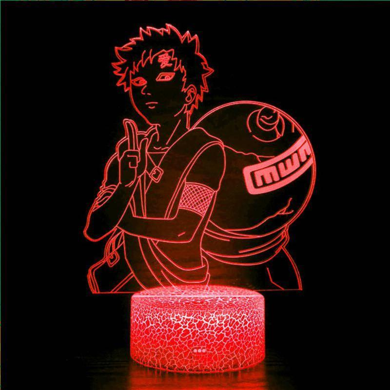 Night Lights Anime Character Toy Gadgets 3D Light Touch LED16 Color Changing USB Sensor Gift Children's Bedroom Desktop Table Lam