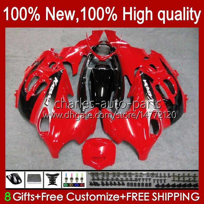 Kropp för Suzuki Katana GSX600F GSXF600 GSXF750 GSXF 600 750 CC 98 99 00 01 02 29NO.36 600cc 750cc GSX750F GSXF-600 GSXF-750 1998 1999 2000 2001 2002 Fairing Glossy Red Blk