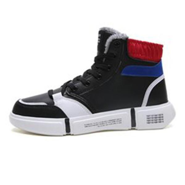 2021 Yeni Varış Ucuz Erkek Çizmeler Sneakers Dantel Basit Tasarımcı Type5 Yumuşak Siyah Beyaz Gri Sıcak Adam Erkek Boot Eğitmenler Açık Yürüyüş Ayakkabıları