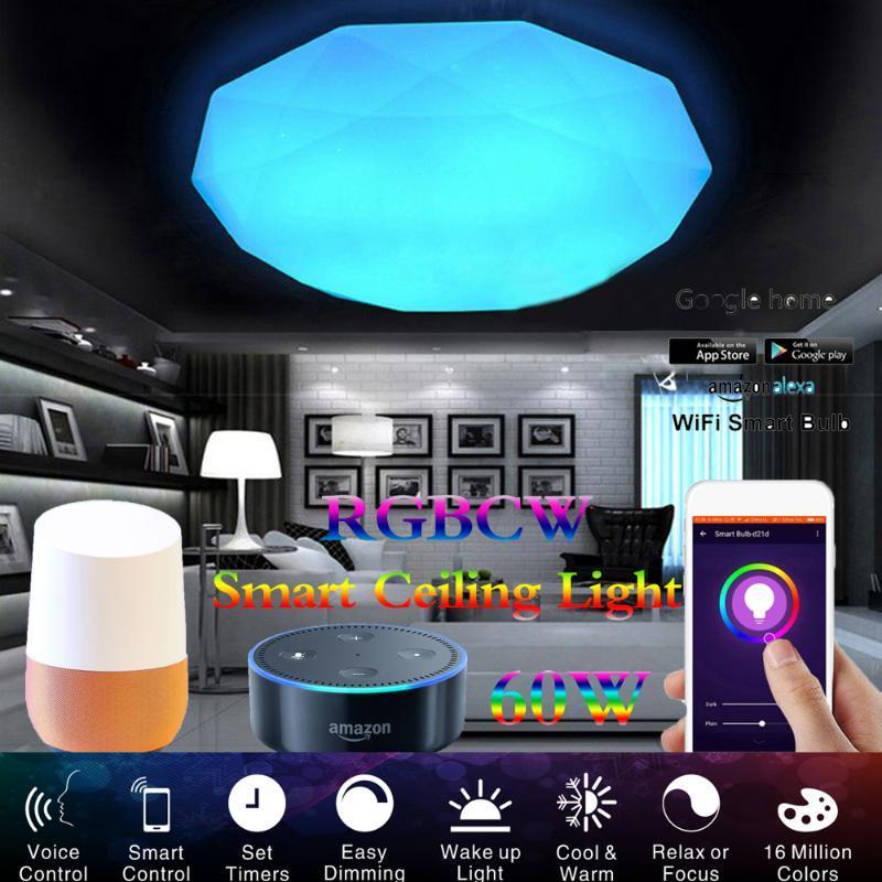 스마트 LED 천장 조명 WiFi 제어 조명 AC220V 110V 실내 조명 거실 램프 Apple IftCEILY와 함께 작동
