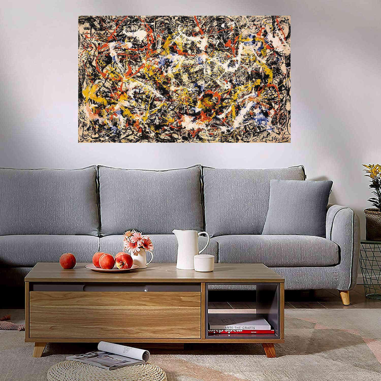 그림 잭슨 폴락 컨버전스 Giclee 인쇄 포스터 캔버스에 큰 유화 홈 장식 벽 아트 그림 210323 ayf
