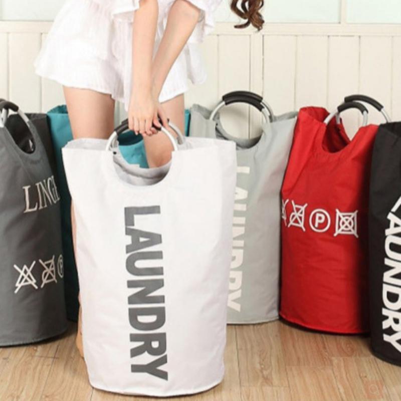 Sacos de armazenamento Saco dobrável da cesta da roupa liga da liga da liga impermeável