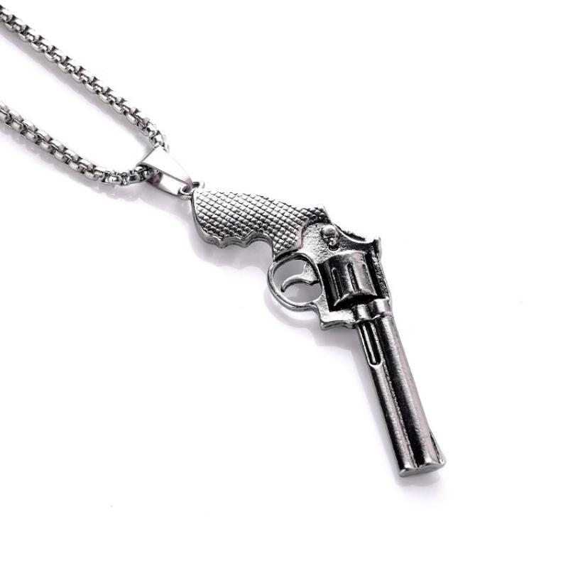 الرجعية مسدس قلادة قلادة الرجال أزياء شخصية الهيب هوب المجوهرات العصرية القلائد