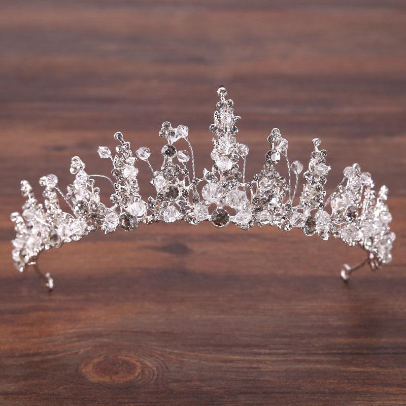 Saç Klipler Barrettes Kristal El Yapımı Tiara Taçlar Takı Rhinestone Düğün Pageant Gelin Prenses Kafa Bant Maea99