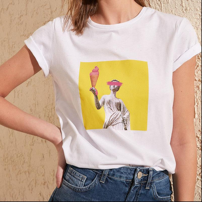 Summer graphic women Womens T Shirts fashion tees hort sleeve printing korean clothes white Female Top