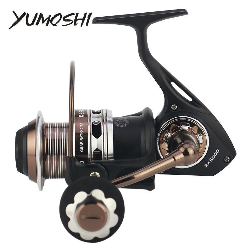 BAITCASTING REELS YUMOSHI RX5000-9000 Spinning Rolle Full Metal 13 + 1BB 5.1: 1 / 5,3: 1 Salzwasserfischen für Bass Pike Carretilha de Pesca