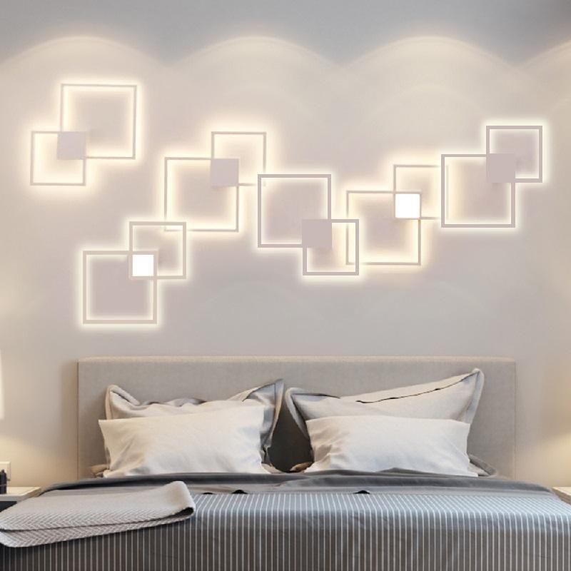 Homluce Remote Control LED Wall Lamp Interior Lighting Living Room Bedroom Foyer Indoor For Home Backgroud TV Lights