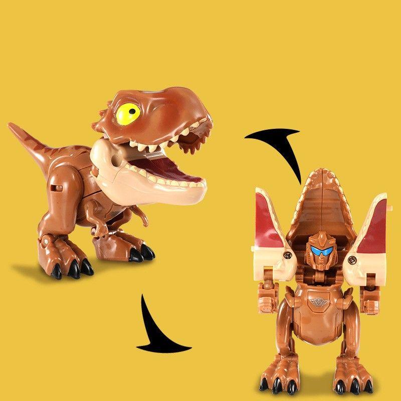 8286 Yuexing deformed dinosaur toy Q version of Tyrannosaurus Rex children's simulation dinosaur model factory direct hot 1056 V2