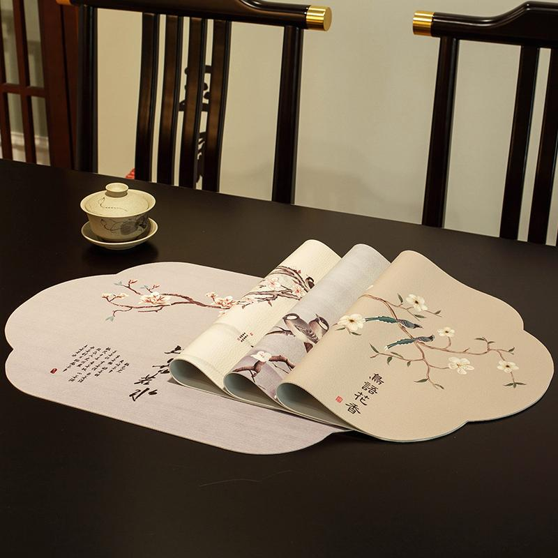Mats Pads China Creative Placemat Cute Vintage Tabla Tradicional Pequeño Impermeable Retro Tischset Accesorios de cocina EI50PM