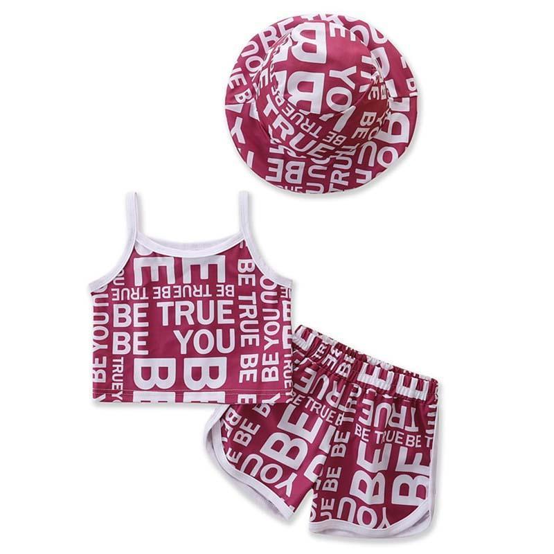 Baby Mädchen Kleidung Set Sommer Kleinkind Kinder Kleine Schlinge + Shorts + Hut Sport Anzug Western Stil Outfits Kinderkleidung