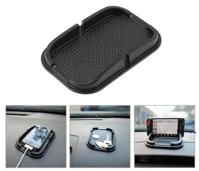 새로운 저렴한 스티커 패드 자동차 대시 보드 미끄럼 방지 매트 안티 슬립 다기능 휴대 전화 GPS 홀더 HWC7146