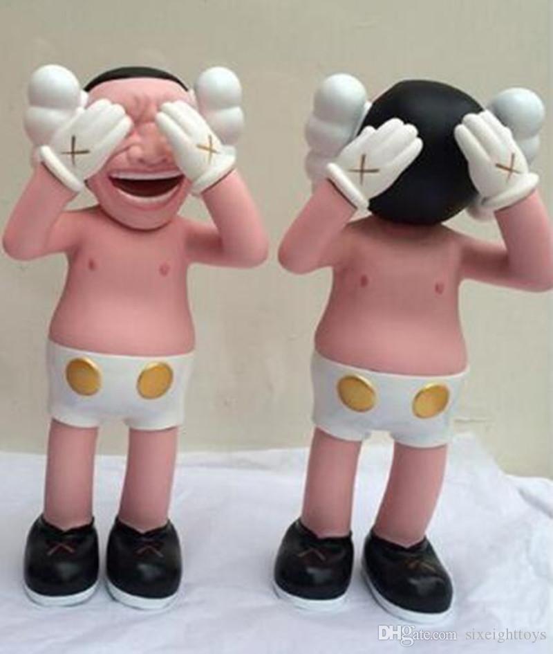 Originalfakte K A W S Companion 30 cm 0.8kg Yuemin Haziran Orijinal Kutusu Action Figure Modeli Süslemeleri Için Haziran Süslemeleri Oyuncaklar Hediye