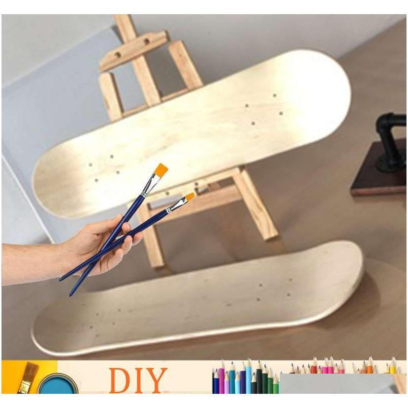 Skateboarding Action Sports & Outdoors7 Layers Maple Skateboard Deck Diy 8 Inch Natural Wood Blank Double Concave Longboard Dance Board Begi