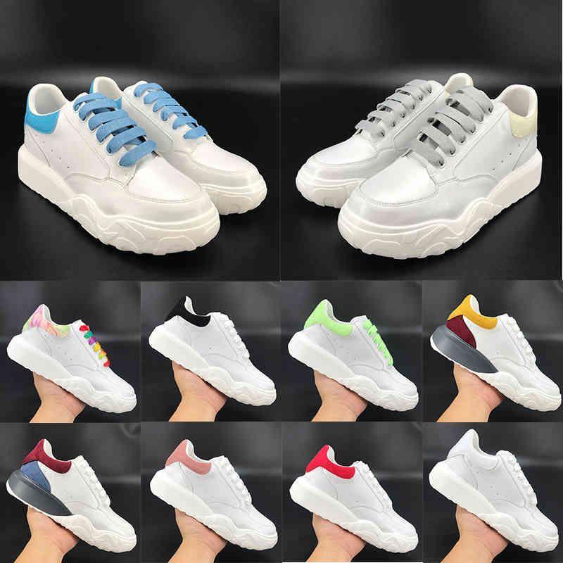 2021 Moda Erkek Ayakkabı Mahkemesi Eğitmen Platformu Gökkuşağı Glow Koyu Beyaz Mavi Siyah Kırmızı Donanma Pembe Turuncu Kadınlar Rahat Sneaker
