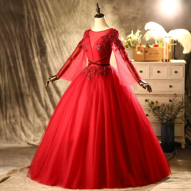 100% echte Luxus Rot Fackelhülse Perlenstickerei Blumenschleier Mittelalterliches Kleid Renaissance Kleid Prinzessin Victorian Venedig / Marie Antoinett Belle Ball